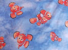 FINDING NEMO DISNEY FABRIC 100% COTTON PER 1 METRE 150 CM WIDE